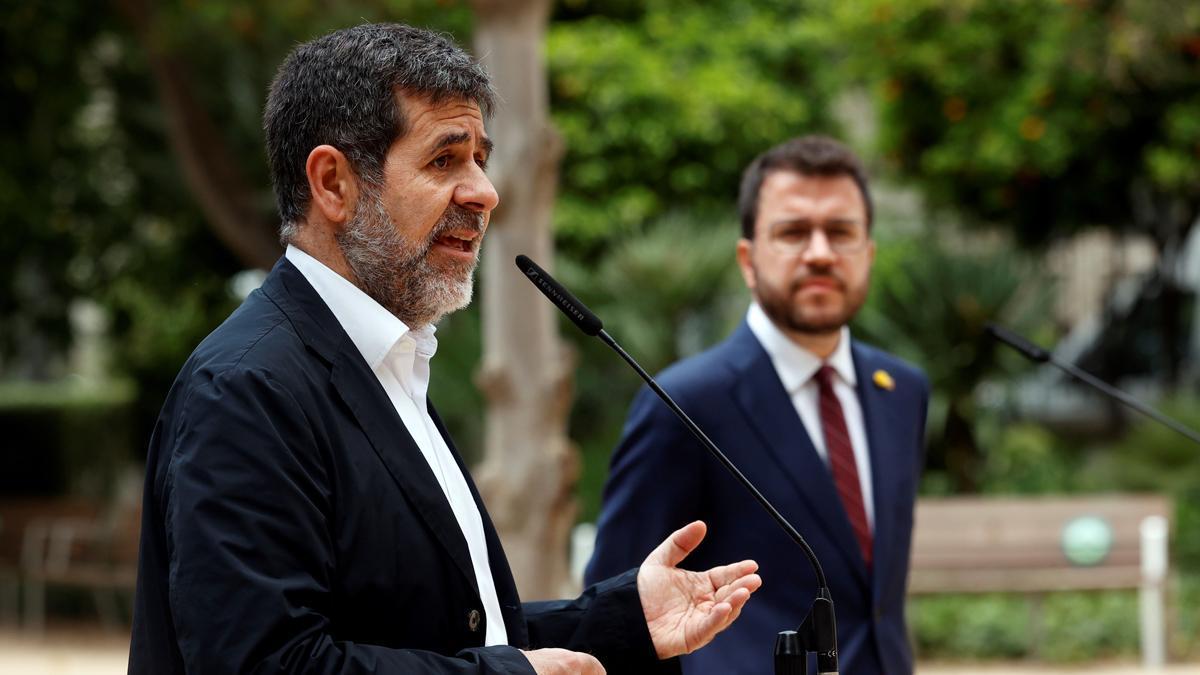 Jordi Sànchez y Pere Aragonès.