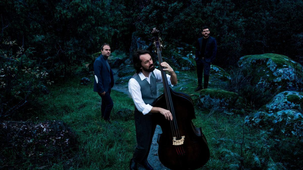 Imagen promocional del contrabajista Pablo Martín Caminero y sus músicos en directo