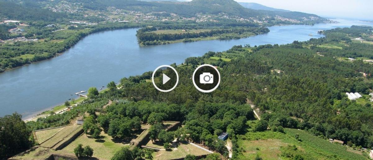 El proyecto contempla conectar con un puente peatonal y para ciclistas la fortaleza de Goián con O Castelinho de Vilanova de Cerveira.