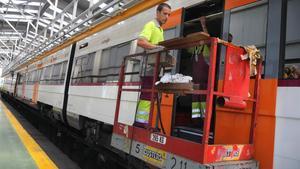 Instalaciones de mantenimiento de Renfe en Vilanova i la Geltrú