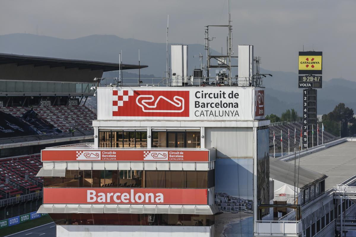 Una imagen de la torre de control del Circuit de Barcelona-Catalunya