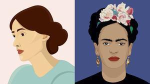 Virginia Woolf y Frida Kahlo