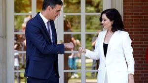 Sánchez rep aquest divendres Ayuso a la Moncloa després de ser investida presidenta de la Comunitat de Madrid