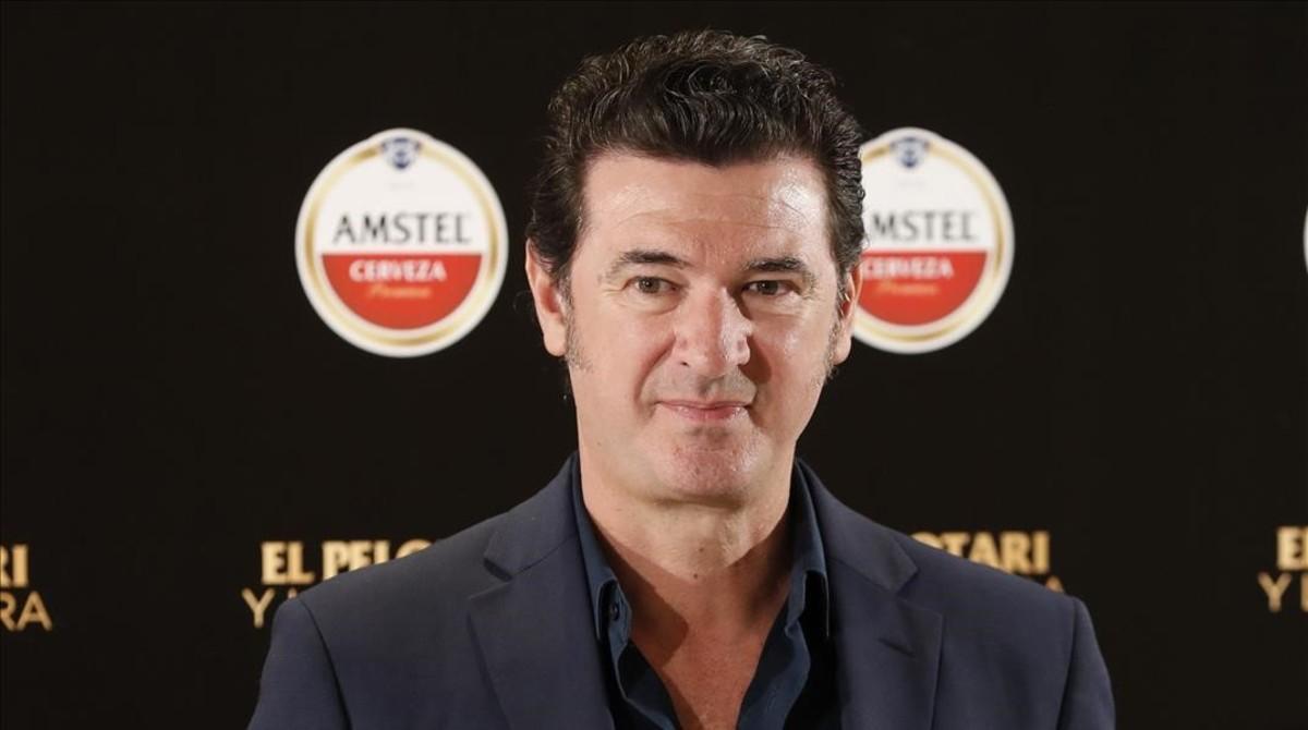 Julio Medem, en Madrid, donde ha presentado 'El pelotari y la fallera'.