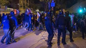 Disturbios en Girona por la sentencia del 'procés' el18 de octubre de 2019.