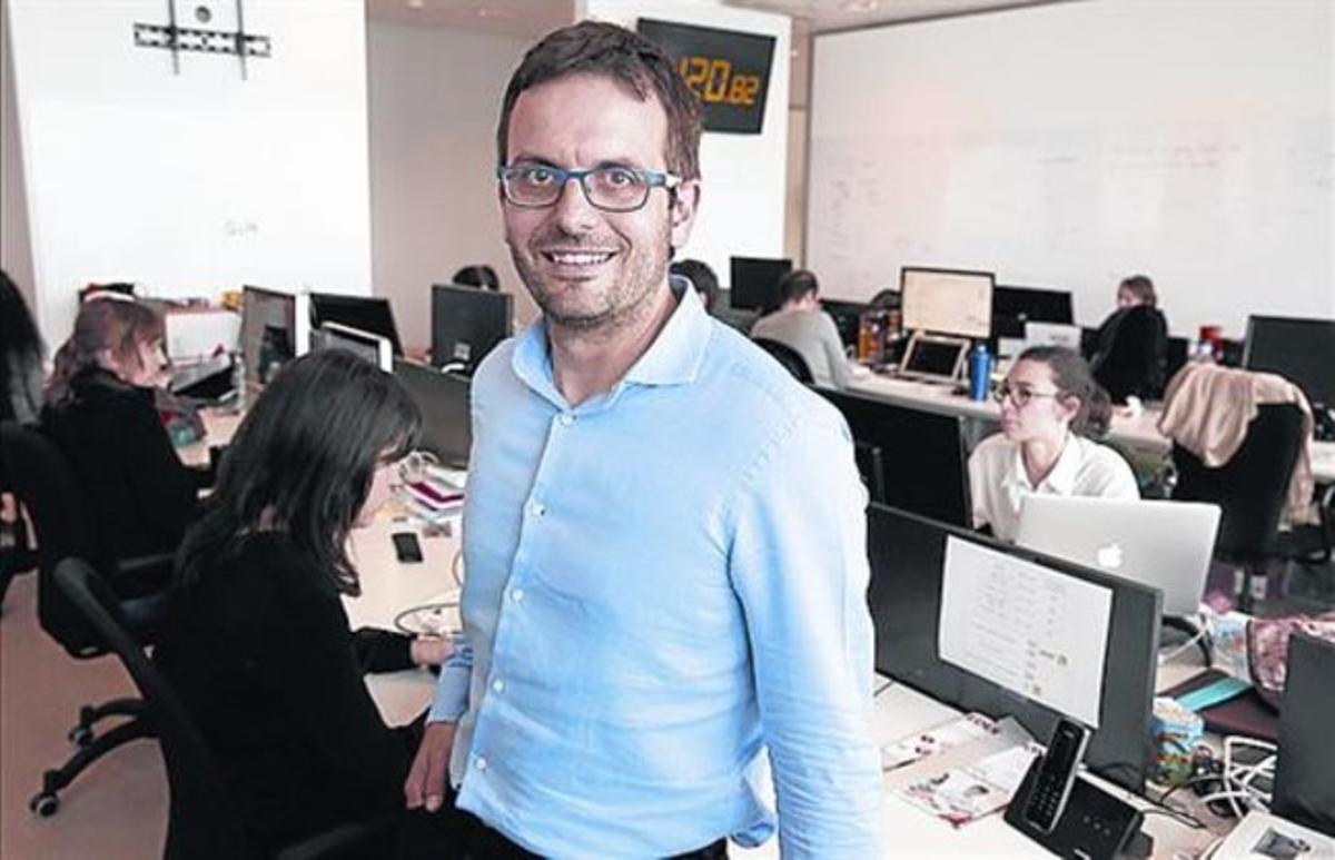 Xavier Carreras, en la sede de Coregistros.