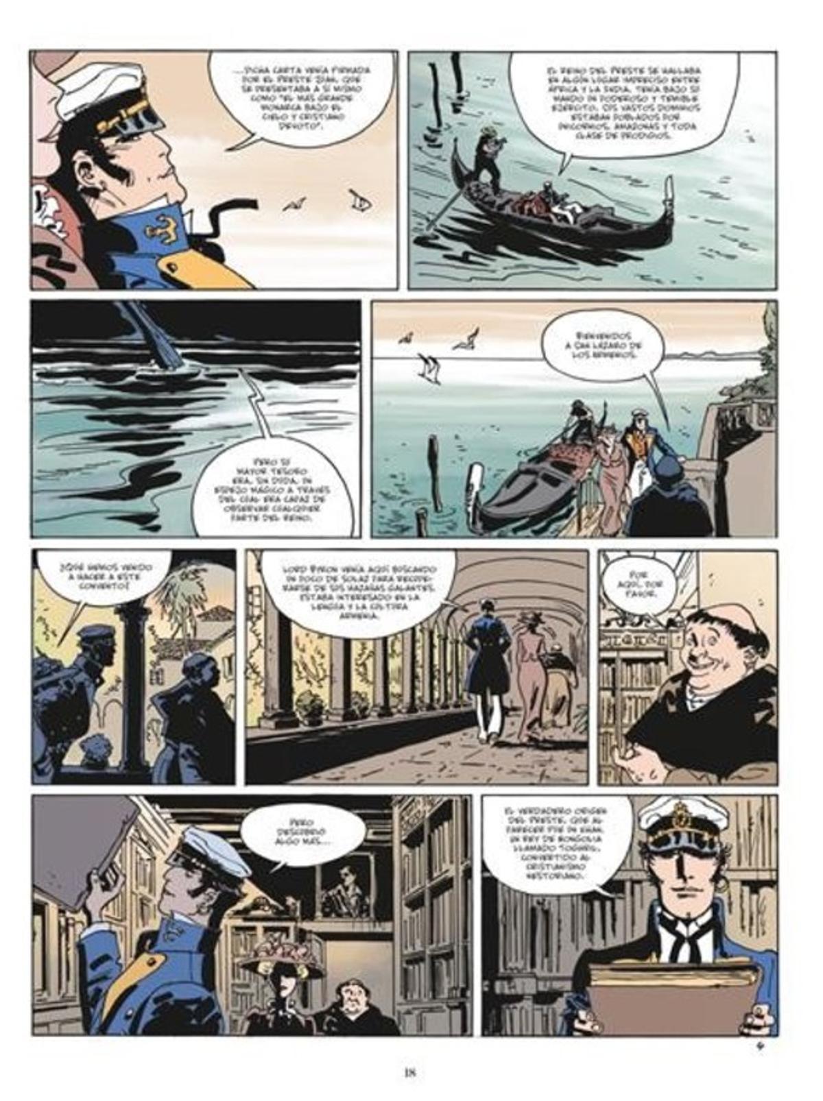 Página de 'Equatoria', la nueva aventura de Corto Maltés firmada por Díaz Canales y Pellejero.