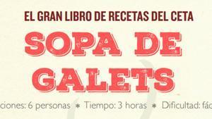 Una imagen del recetario distribuido por En Comú Podem contra el CETA.