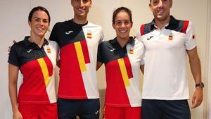 Ana Godoy, Fernando Alarza, Miriam Casillas y Mario Mola, el relevo mixto de triatlón español.