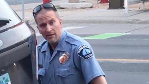 El agente de policía Derek Chauvin, implicado en la muerte del afroamericano George Floyd, el pasado lunes.