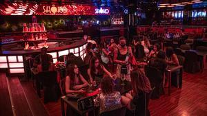 Primera noche de apertura tras la pandemia de la discoteca Shoko en Barcelona.