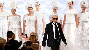 Karld Lagerfeld, en uno de sus desfiles de Chanel.