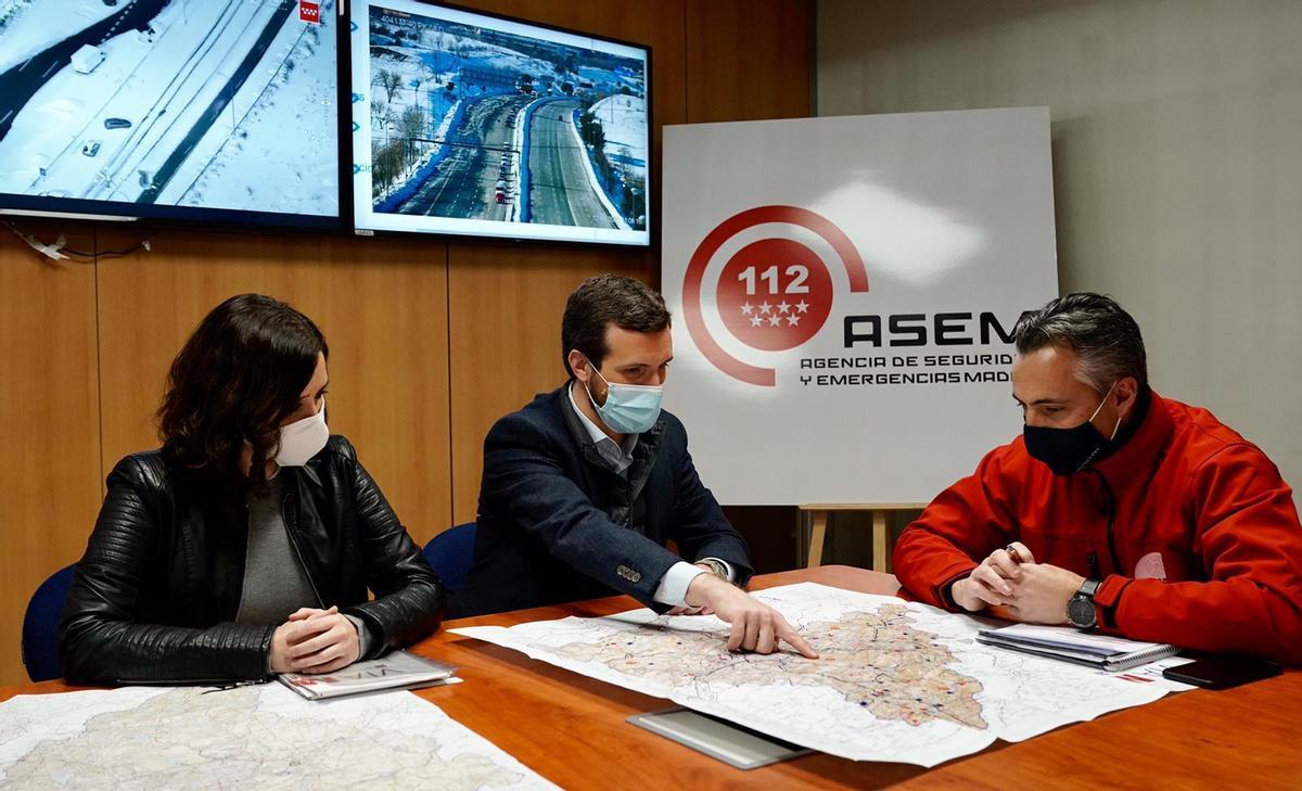 Casado posa fre a les crítiques i demana que Madrid sigui declarat zona catastròfica