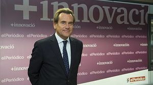 En 'El Periódico'. El presidente de Port de Barcelona, antes de la entrevista en la redacción de 'El Periódico'.