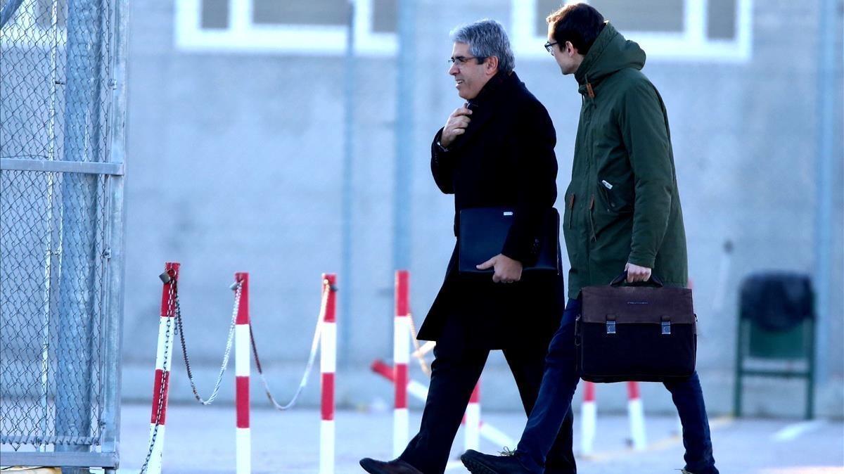 Francesc Homs llega al centro penitenciario de Estremera.