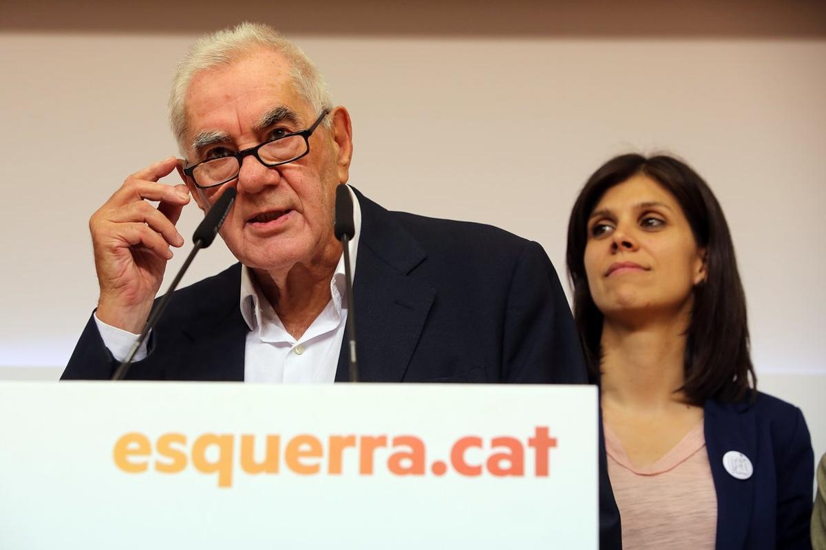 Declaraciones Ernest Maragall en la sede nacional de Esquerra