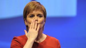 Nicola Sturgeon, en el congreso del SNP.