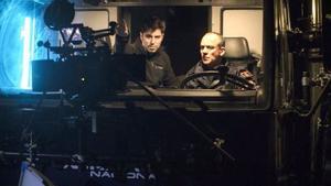Lluís Quílez y Javier Gutiérrez, en el rodaje de 'Bajocero'.