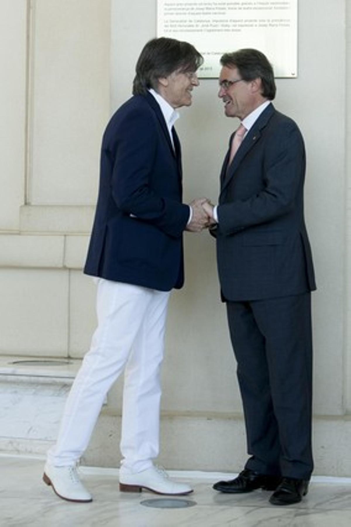 Josep Maria Flotats y Artur Mas.