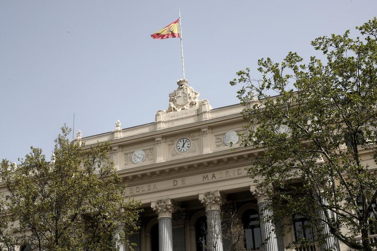Imagen del edificio de la Bolsa de Madrid