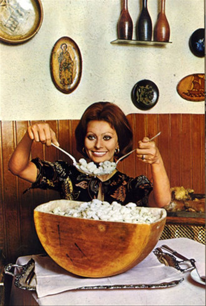 Sofia Loren, a la cuina