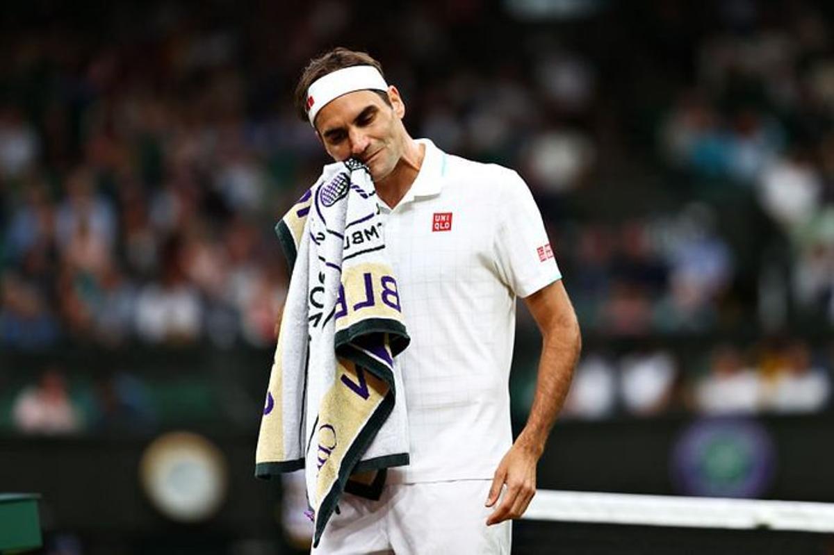 Federer, en su último partido en Wimbledon.