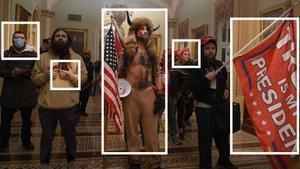 Imagen de algunos de los asaltantes al Capitolio.