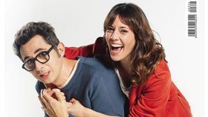 Berto Romero y Eva Ugarte, los protagonistas de 'Mira lo que has hecho', en la portada de 'Teletodo'.