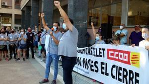 Trabajadores de la empresa Bosch se manifiestan en Vilafranca del Penedés