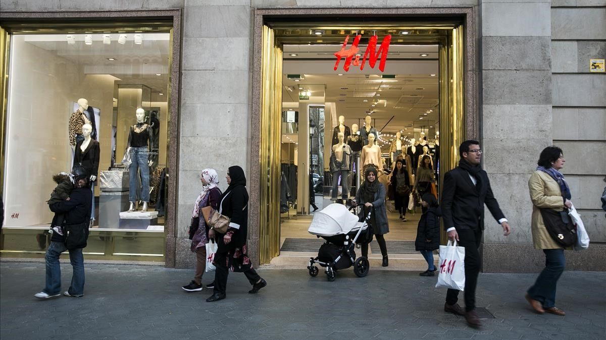 Tienda de  H&M en Paseo de Gracia de Barcelona