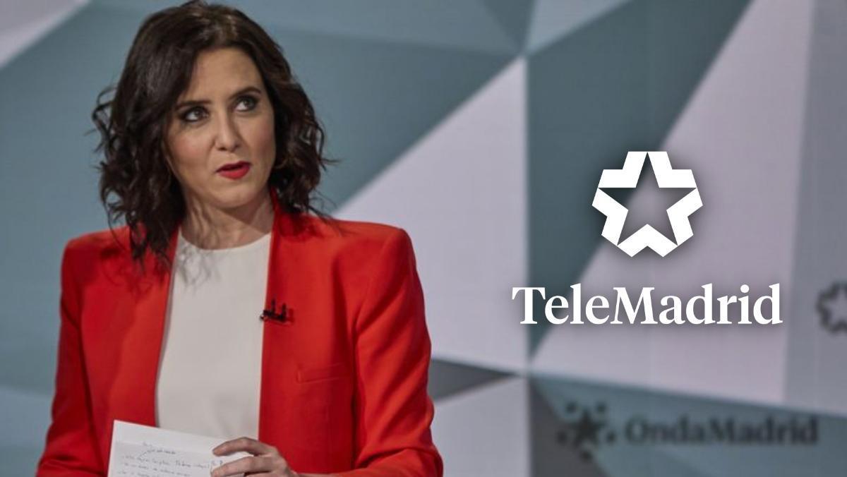 Isabel Díaz Ayuso en el debate organizado por Telemadrid.