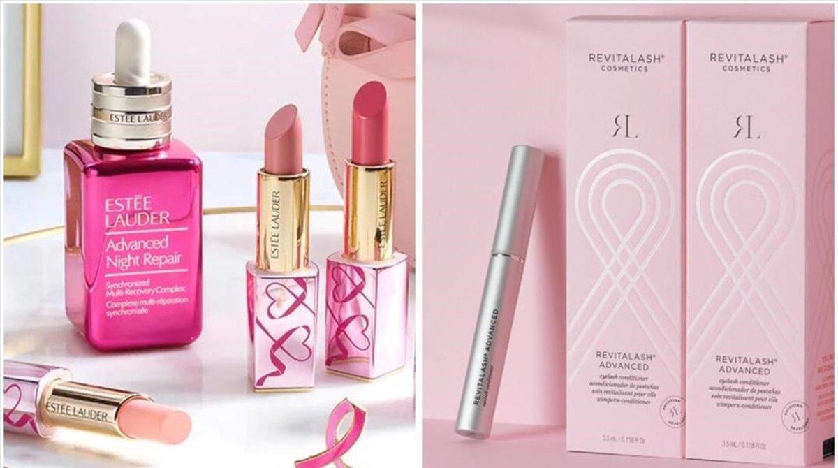 Productos de la marca Estée Lauder y Revitalash