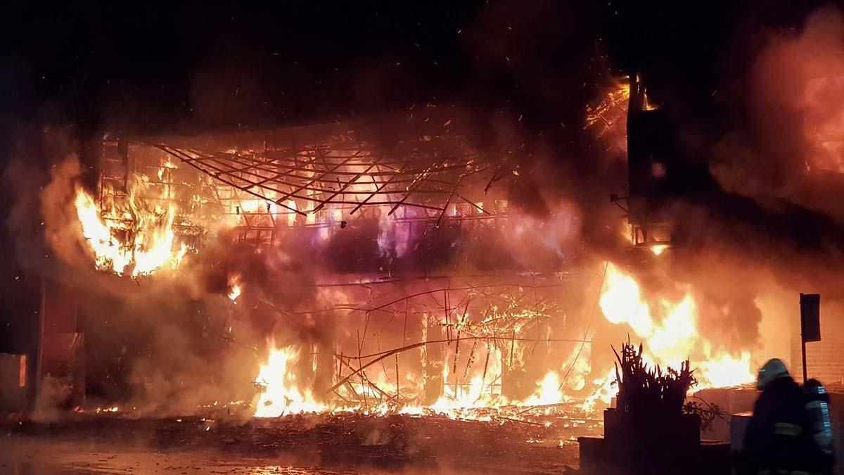 Incendio en la ciudad taiwanesa de Kaohsiung.