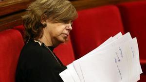 Meritxell Borràs, 'consellera' de Governació, en el Parlament.