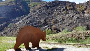 Mirador del Osoen el municipio asturiano de Degaña, un paraje muy frecuentado por los plantígrados.El paisaje quedó calcinado en elreciente incendio.