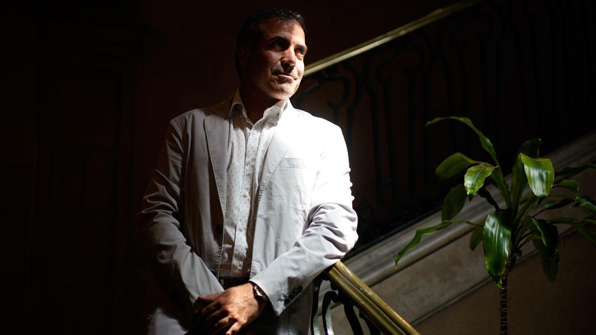 Francesc Serés, premio Llibreter por 'La casa de foc', este martes en Barcelona.