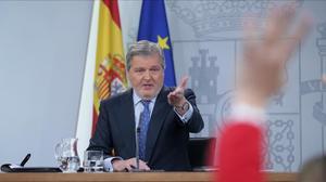 Íñigo Méndez de Vigo, en la rueda del Consejo de Ministros de este viernes.