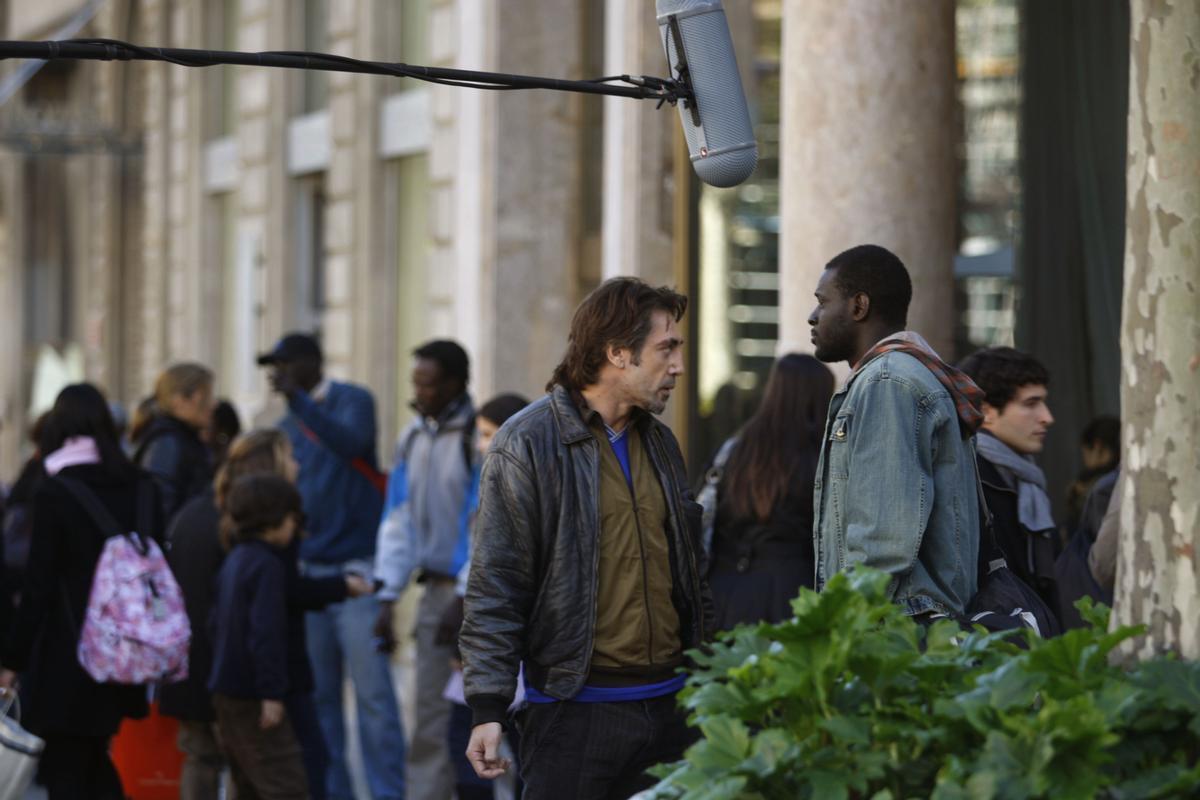 Javier Bardem, rodando en Barcelona la oscarizada 'Biutiful'.