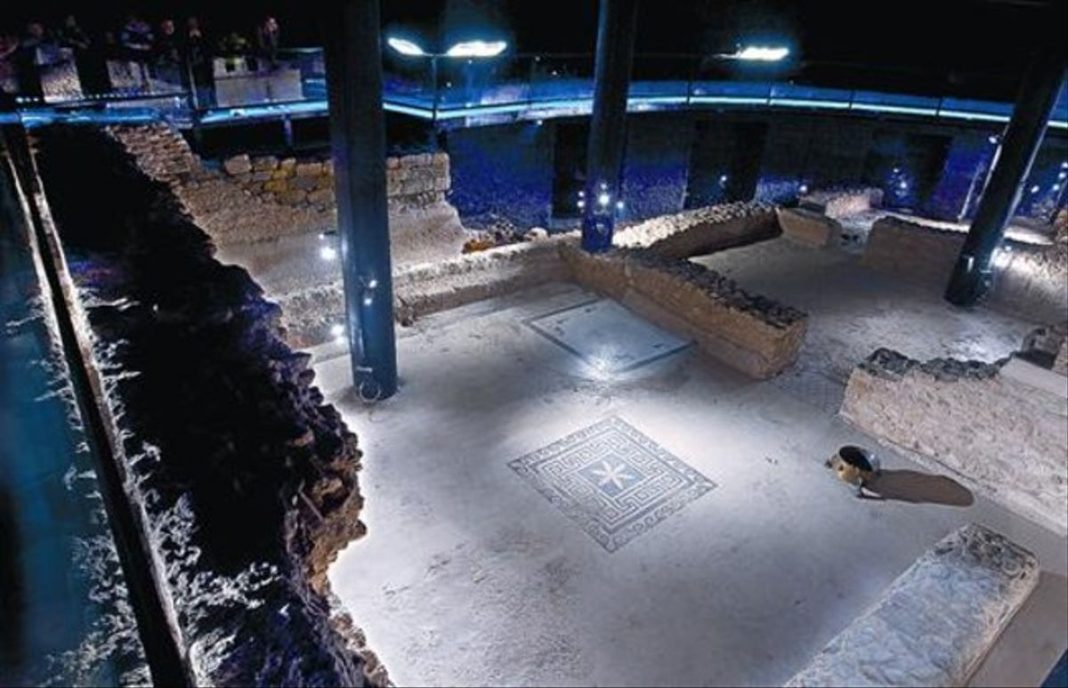 Vista parcial de la ciudad romana que Badalona alberga en su subsuelo.