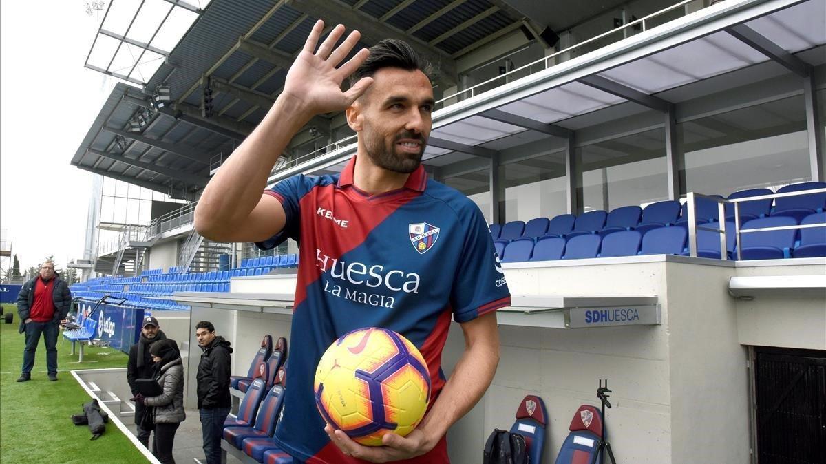 Enric Gallego, primera incorporacion de la SD Huesca en el mercado de invierno de la presente campaña.