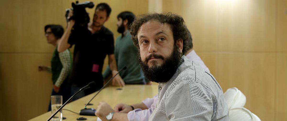 El concejal de distrito de Madrid, Guillermo Zapata, el pasado día 15.