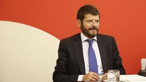 El director de los Mossos, Albert Batlle, el pasado junio durante una rueda de prensa.