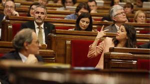 Torra a Arrimadas:¿Escucha este silencio? Es lo que queda de su paso por el Parlament.