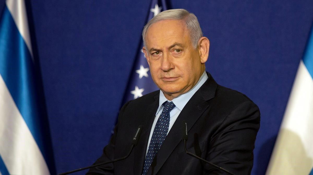 El primer ministro israelí,Benjamin Netanyahu, el pasado 19 de noviembre en Jerusalén durante una rueda de prensa con el secretario de Estado de EEUU,Mike Pompeo.