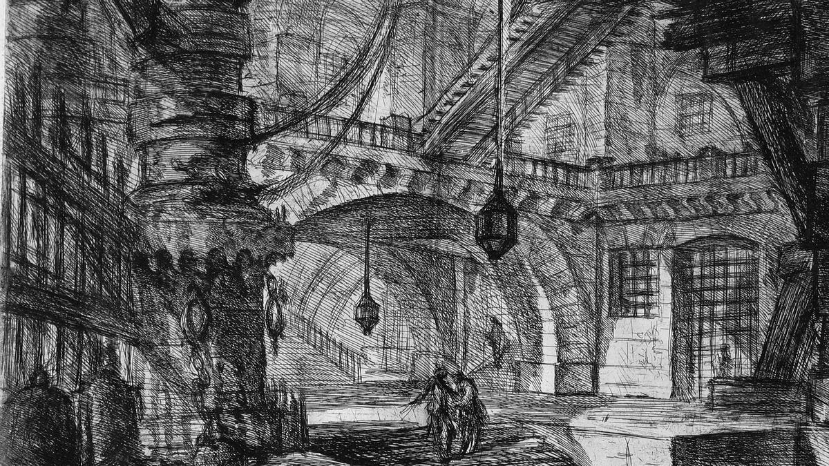 Una de las 'Carceri d'invenzione' de Gian Battista Piranesi.
