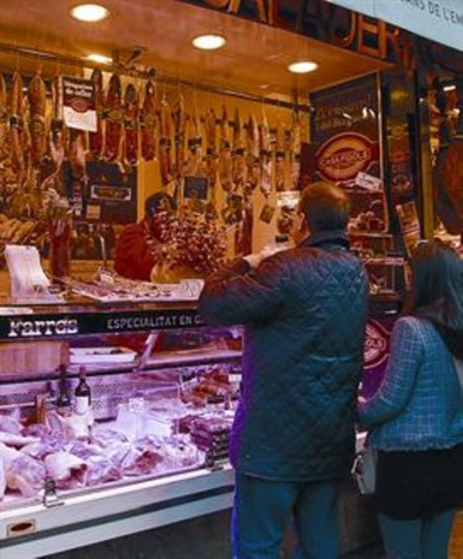 El puesto de Joan Farrés en el mercado de la Boqueria.