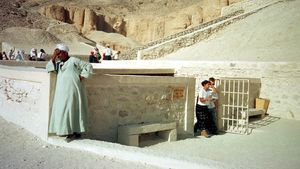 Tumba de Tutankamón en el Valle de los Reyes.