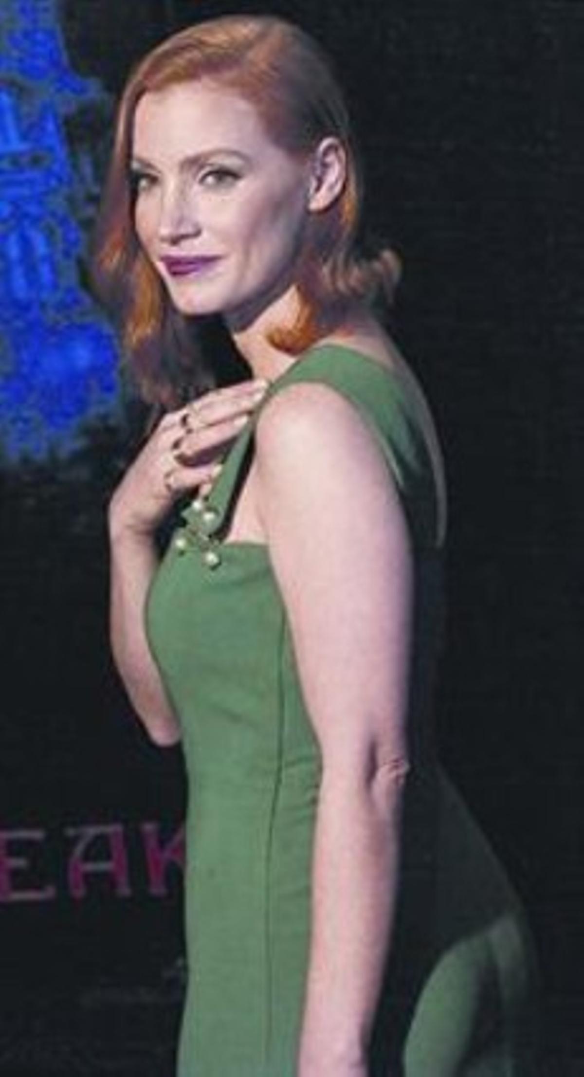 Chastain, en el estreno de 'Crimson Peak', el miércoles en Nueva York.