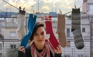 Rocío Gómez, en la terraza del Centre Cívic Trinitat Vella, este miércoles.