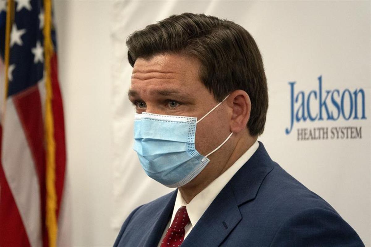 El gobernador de Florida, Ron DeSantis.